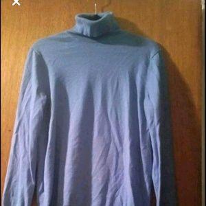 Tops - Blue turtleneck sweater
